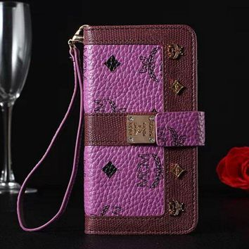 MCM Fashion iPhone Phone Cover Case For iphone 6 6s 6plus 6s-plus 7 7plus hard shell Leather Case-2