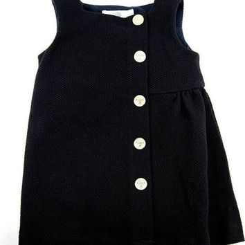 NOV9O2 Versace Baby Girls Navy Dress