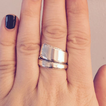 Size 9 Vintage Towle Sterling Silver Spoon Ring