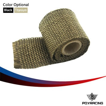 "PQY RACING FREE SHIPPING- 2""x 1M Performance Exhaust Tape Manifold Downpipe Insulating Heat Wrap PQY1901"