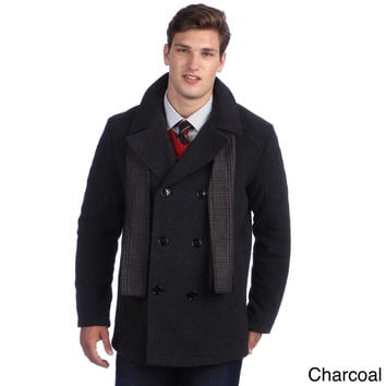 Kenneth Cole Reaction Men's Double Breasted Wool Car Coat