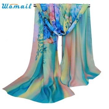 Womail Good Deal  New Fashion Women's Ladies neck scarf Chiffon Soft Scarves Long Wraps Shawl Beach Silk Scarf Gift 1PC