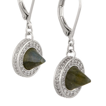 Eddie Borgo - Silver-plated, labradorite and crystal earrings