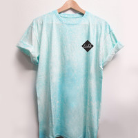 SPRAY ON TEE / LIGHT TURQUOISE