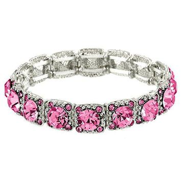 Falari Crystal Stretch Bracelet Wedding Bracelet Gift Box Included