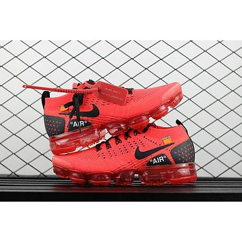 Off White X Nike Air Vapormax 2 Flyknit 2018 Red 942843 501