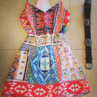 Bohemian Spaghetti Strap Dress