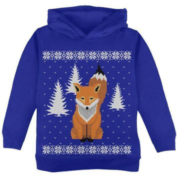 CREYCY8 Big Fox Ugly Christmas Sweater Toddler Sweatshirt