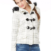 Plaid Fleece Toggle