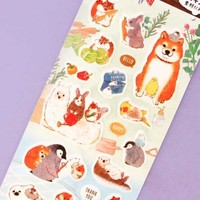 Kawaii Animals Masking Seal Stickers - Garden Party