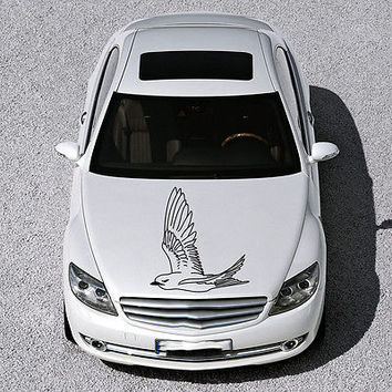 BEAUTIFUL BIRD FLIES ANIMAL ART DESIGN HOOD CAR VINYL STICKER DECALS SV1277