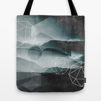 Winter Mountains Tote Bag by Cafelab