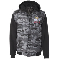 Army Girlfriend Nylon Vest with Fleece Sleeves