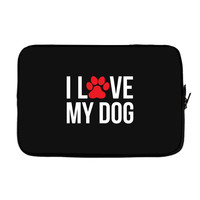 I Love My Dog Laptop cover