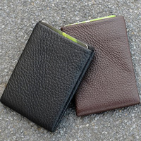 NERO™ Leather Wallet 4 RFID protected pockets for credit cards and 1 RFID pass, credit card wallet, women and men, minimalist, modern design