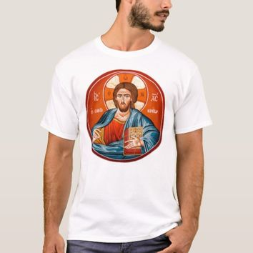 Greek Orthodox Jesus Christ Mural T-Shirt