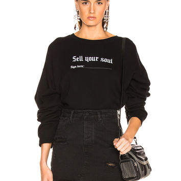 R13 Sell Your Soul Sweatshirt in Black | FWRD