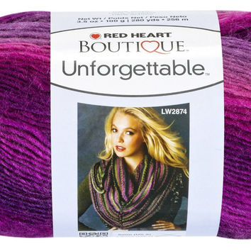 Red Heart Boutique Unforgettable Self Striping Yarn in Petunia