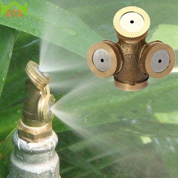 WCIC 5pcs Thread Brass Agricultural Misting Spray Nozzle Garden Lawn Water Sprayer Nozzle Fountain Sprinkler Irrigation System