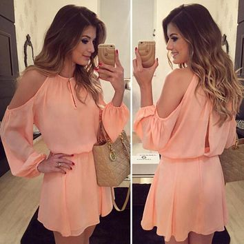 hot sale fashion off shoulder vestidos bohemian plus size women dress casual clothes dress party casual women chiffon dresses