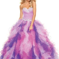 Paparazzi by Mori Lee 93021 Purple Ball Gown