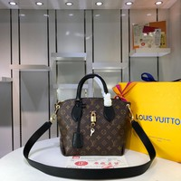 LV Women Leather Shoulder Bag Satchel Tote Bag Handbag Shopping Leather Tote Crossbody Satchel
