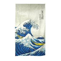 Great Wave Noren, Japanese Noren, Wave Noren, Noren, Great Wave Art | Japanese Style LLC