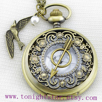 The Hunger Games Pocket Watch Necklace by tonightstar on Etsy
