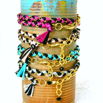 PICK a WRAP - Adjustable Double Wrap Braided Modern Friendship Bracelet