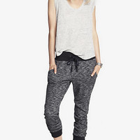 CONTRASTING TALL CUFF SLIM SWEATPANT from EXPRESS