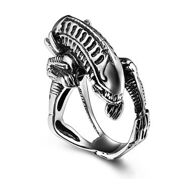 Aliens Stainless Steel Ring for Men