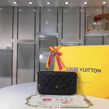 DCCK Lv Louis Vuitton Fashion Women Men Gb29610 M61276 Monogram Service Small Leather Goods Wallets Pochette Felicie 21 * 11 * 2 Cm