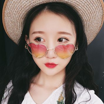 Adorable Heart Shaped Luxury Sunglasses for Women with UV400 Protection