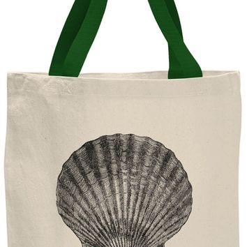 Austin Ink Apparel Scallop Shell Contrast Cotton Canvas Tote Bag