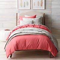 Bow-Tied Textured Cotton Bedding Collection