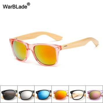 WarBlade Eco-Friendly Bamboo Sunglasses with Mirrored UV400 Lenses