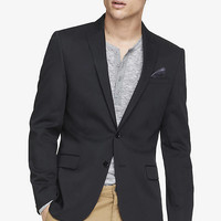 COTTON SATEEN PEAK LAPEL BLAZER from EXPRESS