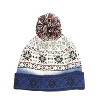 ASOS Bobble Beanie With Dip Dye Fairisle Design