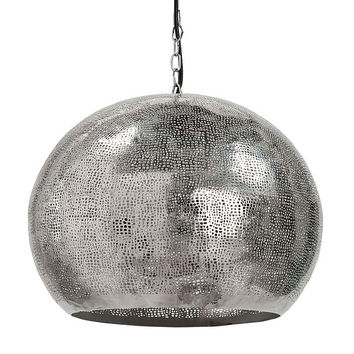 Perforated Metal Pendant