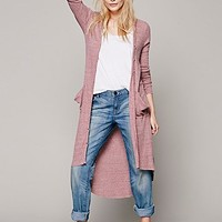Womens Ribbed Up Maxi Cardigan