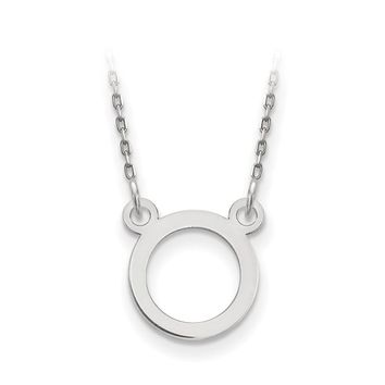 14k White Gold Open Circle Necklace
