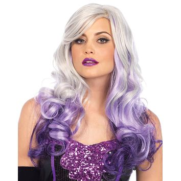 Allure Ombre Purple White Wavy Long Hair Wig