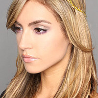 The Lux T-Strap Headband in Gold and Topaz by Laura Kranitz | Karmaloop.com - Global Concrete Culture