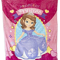 Disney Junior Sofia the First Princess Twin Blanket 59 X 78 Inches - For Kids Bedding Girls