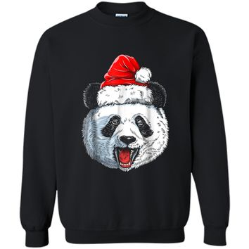 Panda Santa Christmas Kids Boys Girls Xmas Gifts Tee Printed Crewneck Pullover Sweatshirt