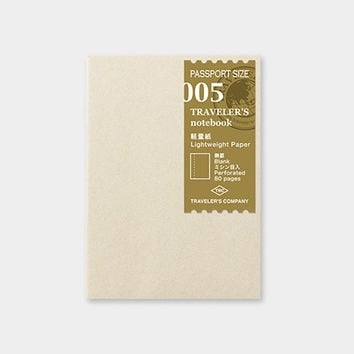 Traveler's Company Passport 005 Lightweight Paper Notebook Refill