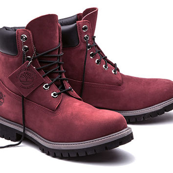 "Timberland | Limited Release | Burgundy 6"" Boot"
