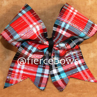 Plaid Cheer Bow