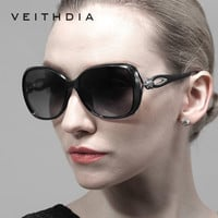 VEITHDIA Retro TR90 Driving Sun glasses Polarized Luxury Ladies Designer Women Sunglasses Eyewear oculos de sol feminino 7022