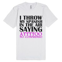 Spanish-Unisex White T-Shirt